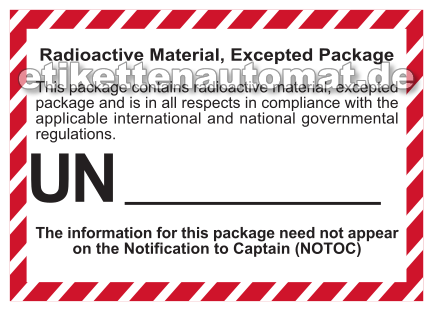 Radioactive Material Excepted Package
